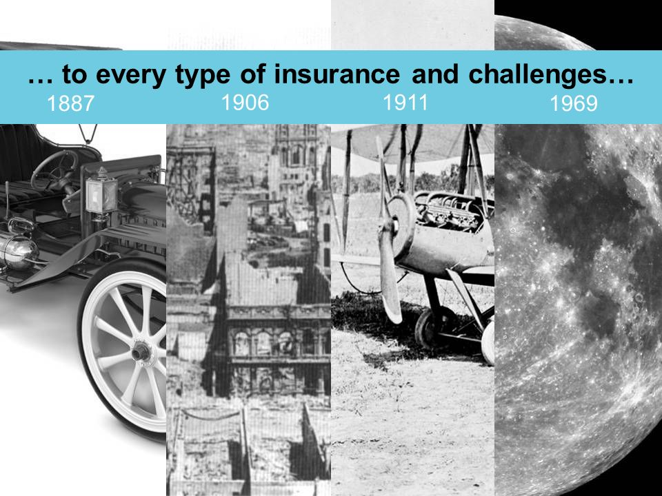 © Lloyds … to every type of insurance and challenges… 1887 1911 1969 1906
