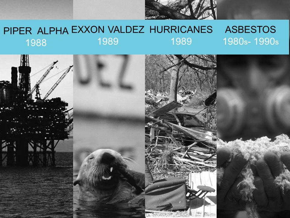 © Lloyds PIPER ALPHA 1988 EXXON VALDEZ 1989 HURRICANES 1989 ASBESTOS 1980 s - 1990 s