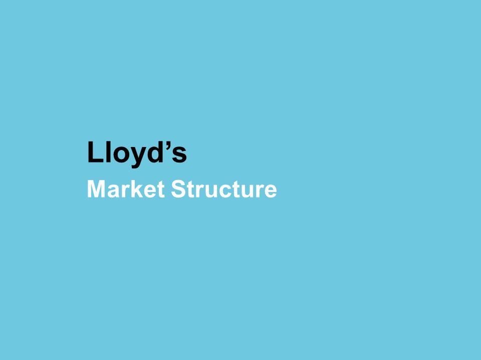 © Lloyds Lloyds Market Structure
