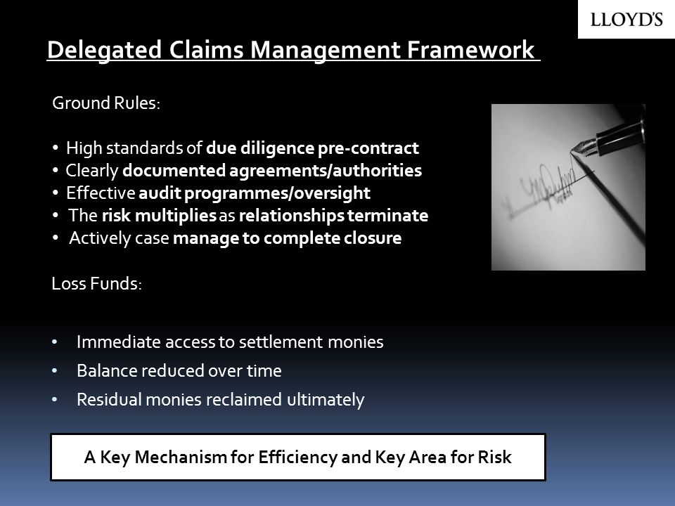 Ground Rules: High standards of due diligence pre-contract Clearly documented agreements/authorities Effective audit programmes/oversight The risk mul