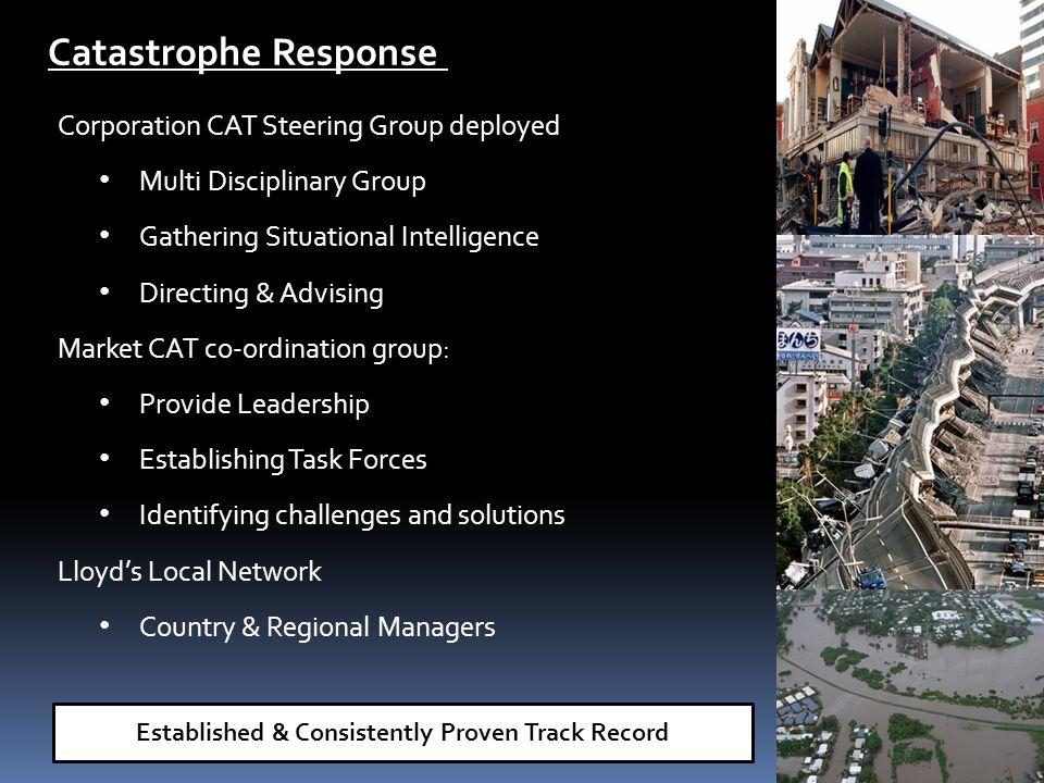 Corporation CAT Steering Group deployed Multi Disciplinary Group Gathering Situational Intelligence Directing & Advising Market CAT co-ordination grou