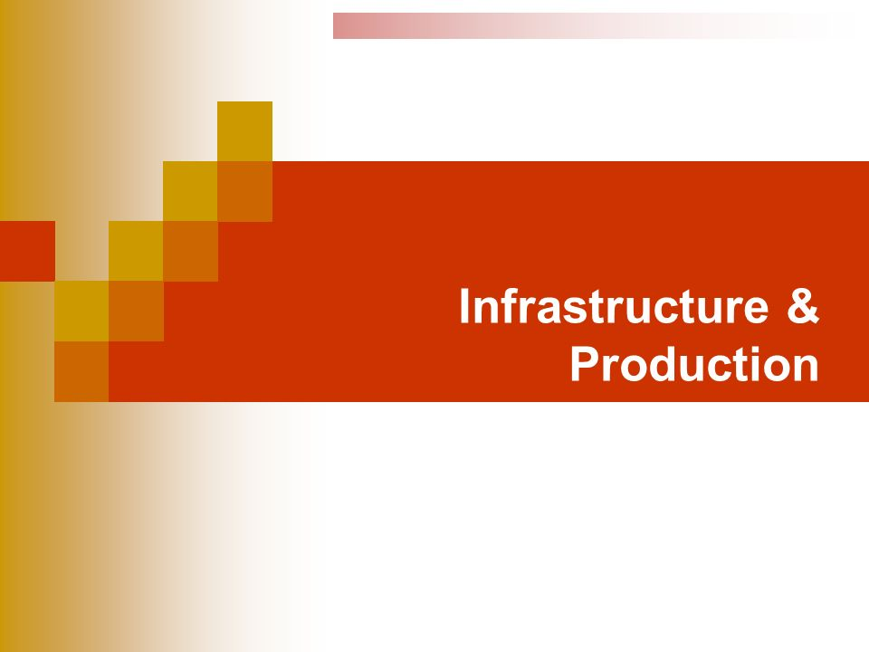 Infrastructure & Production