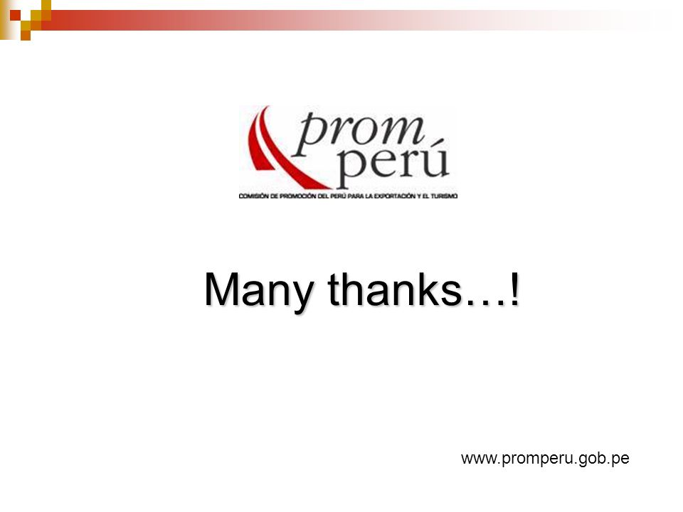 Many thanks…! www.promperu.gob.pe