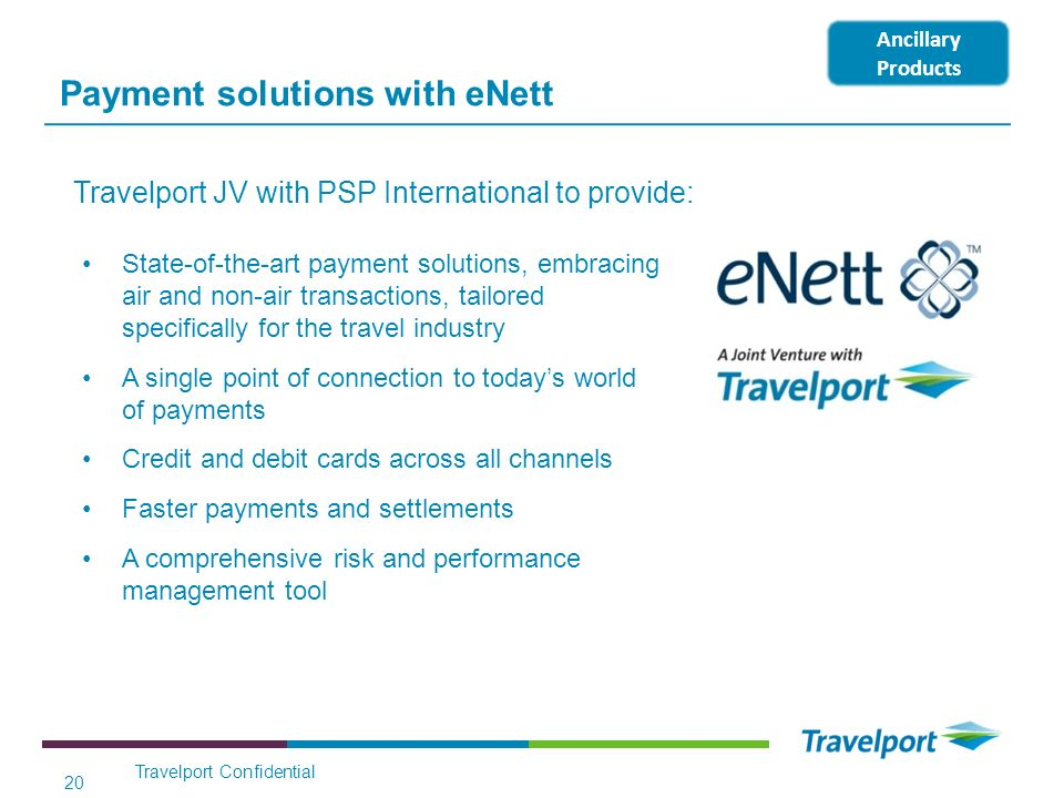 Payment solutions with eNett State-of-the-art payment solutions, embracing air and non-air transactions, tailored specifically for the travel industry