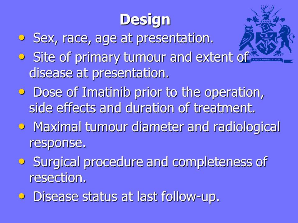 Design Design Sex, race, age at presentation. Sex, race, age at presentation.