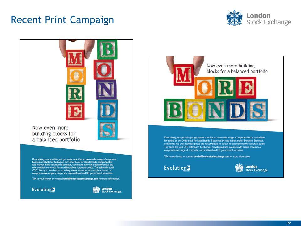 22 Recent Print Campaign