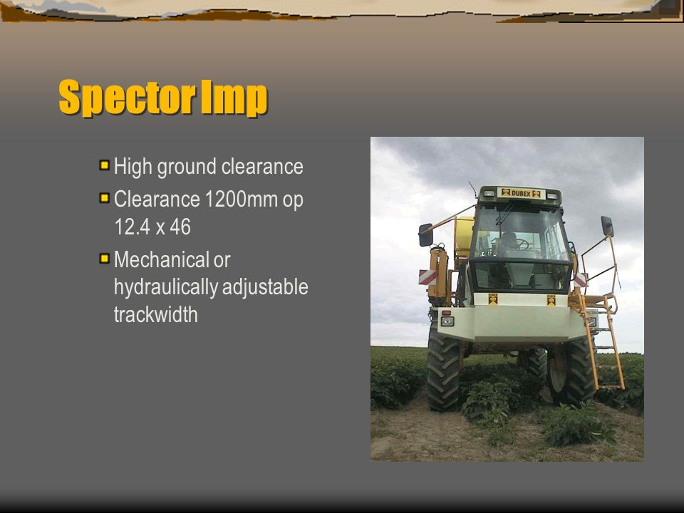 Spector Imp 4000 L Design based on proven Dubex spray technology