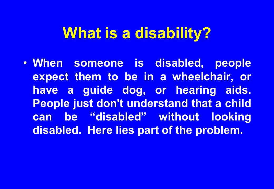 What is a disability.