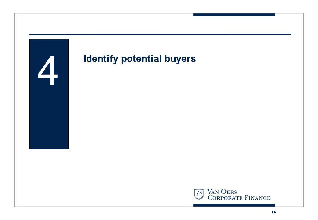 14 4 Identify potential buyers