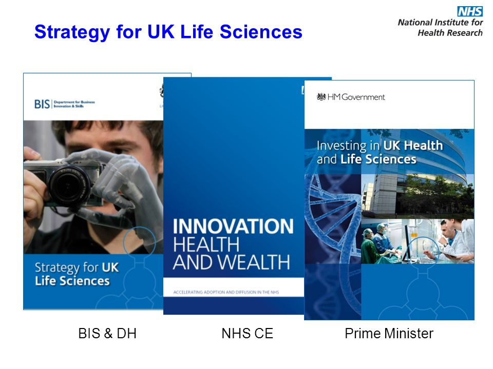 BIS & DH NHS CE Prime Minister Strategy for UK Life Sciences
