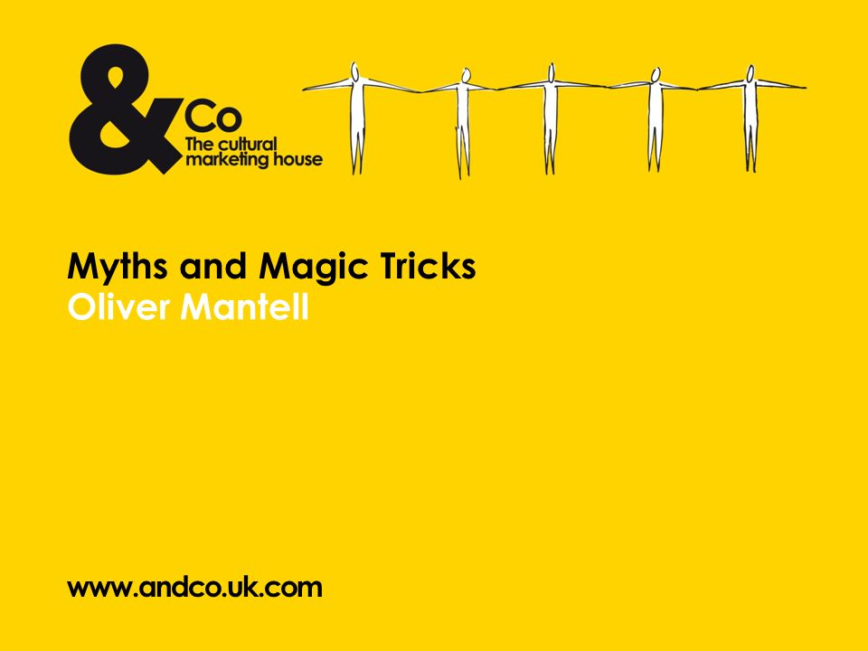 Oliver Mantell Myths and Magic Tricks