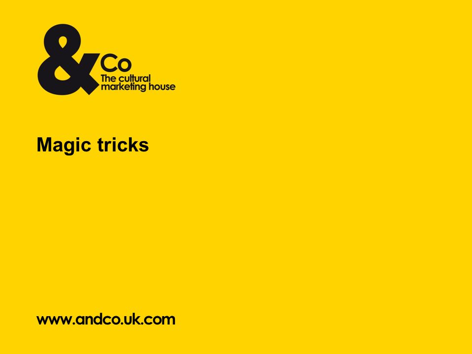 www.andco.uk.com Magic tricks