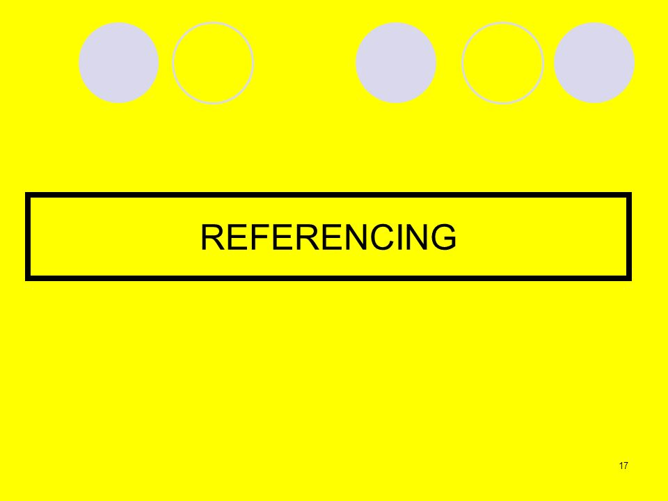 REFERENCING 17
