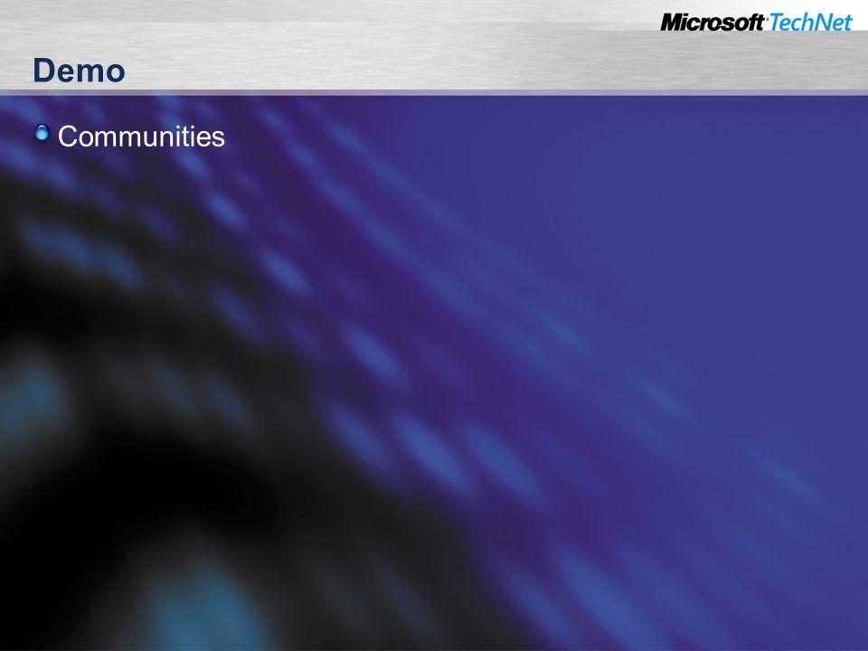 Demo Communities