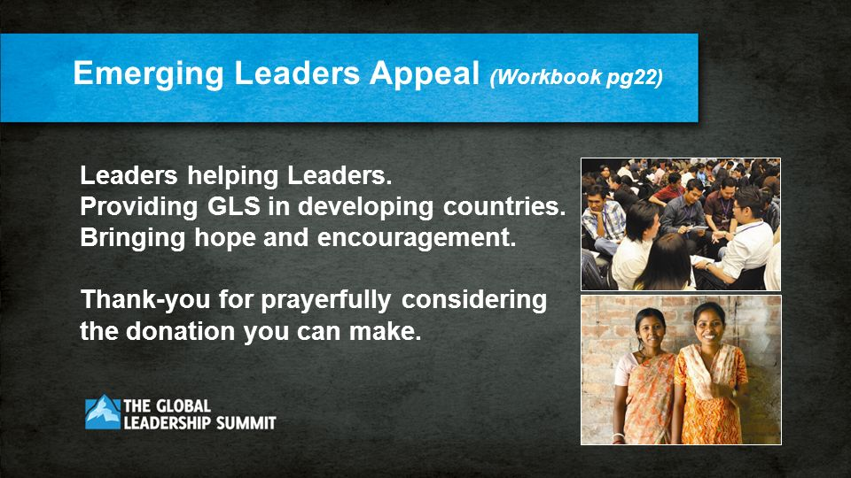 Leaders helping Leaders. Providing GLS in developing countries.