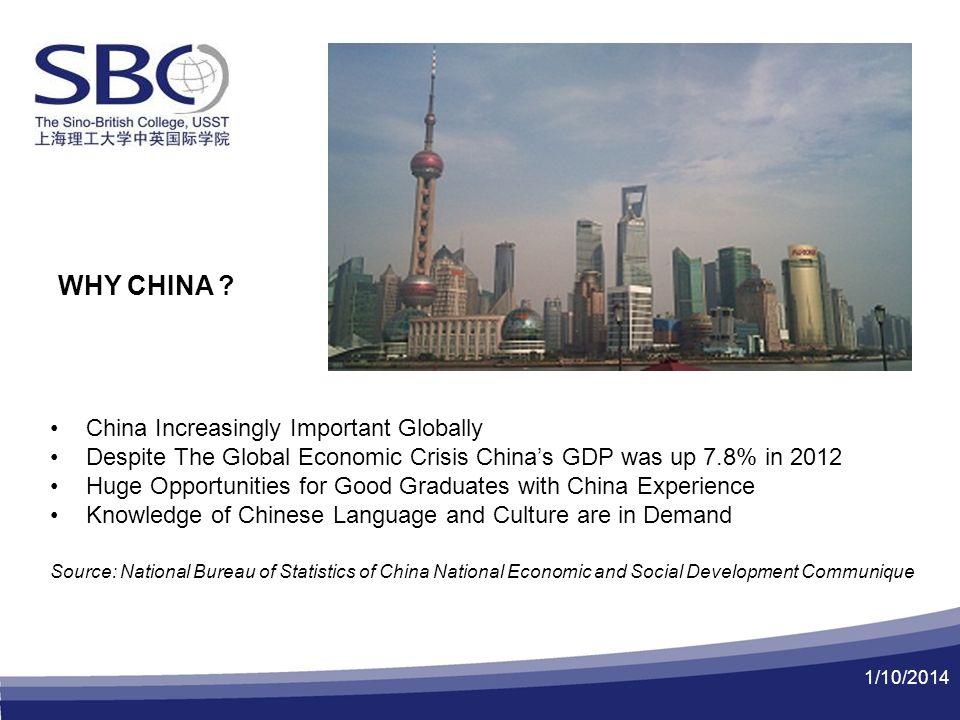1/10/2014 WHY CHINA .