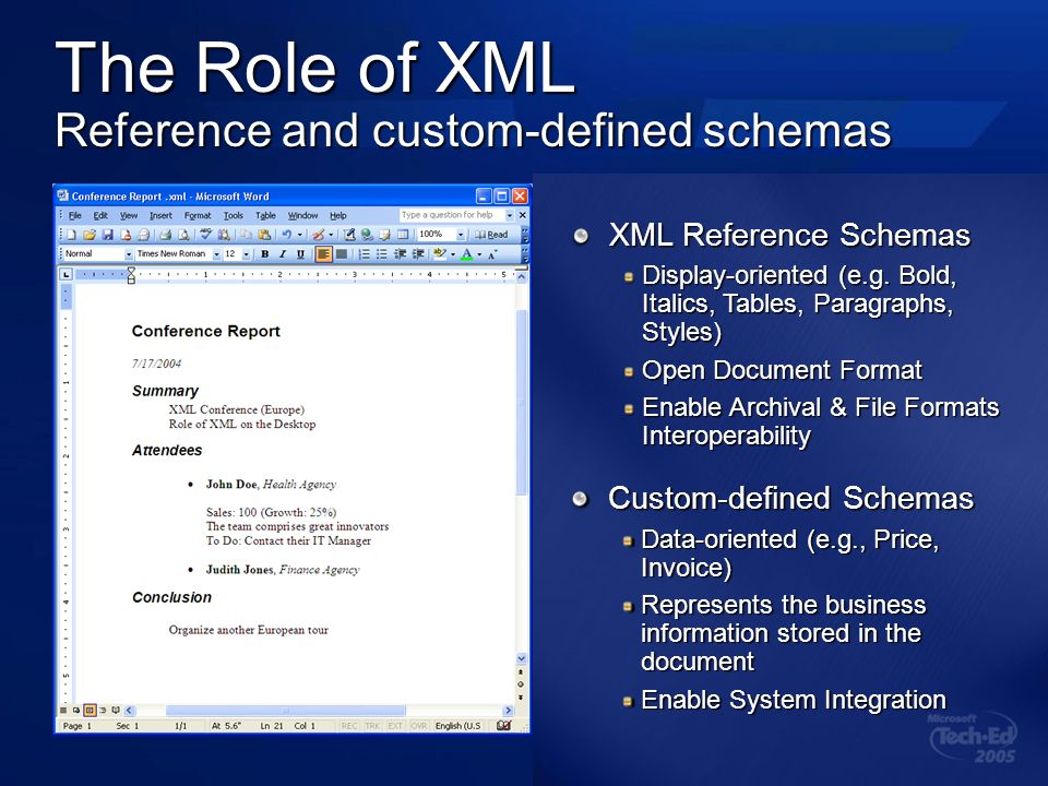 Tools Set of utilities to make working with Office XML easier Word XML toolbox (February 2003) XSLT Transform Generator Excel XML toolbox (May 2005) …on MSDN Office Developer Center