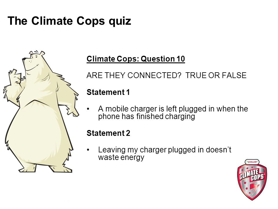 Climate Cops: Question 10 ARE THEY CONNECTED.