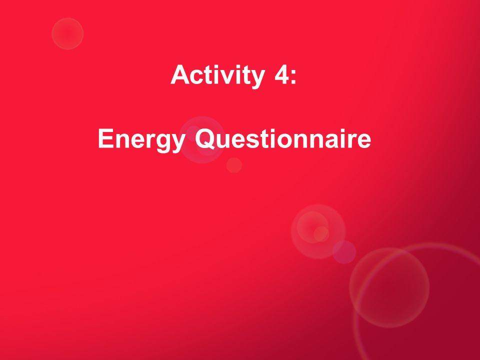 Activity 4: Energy Questionnaire