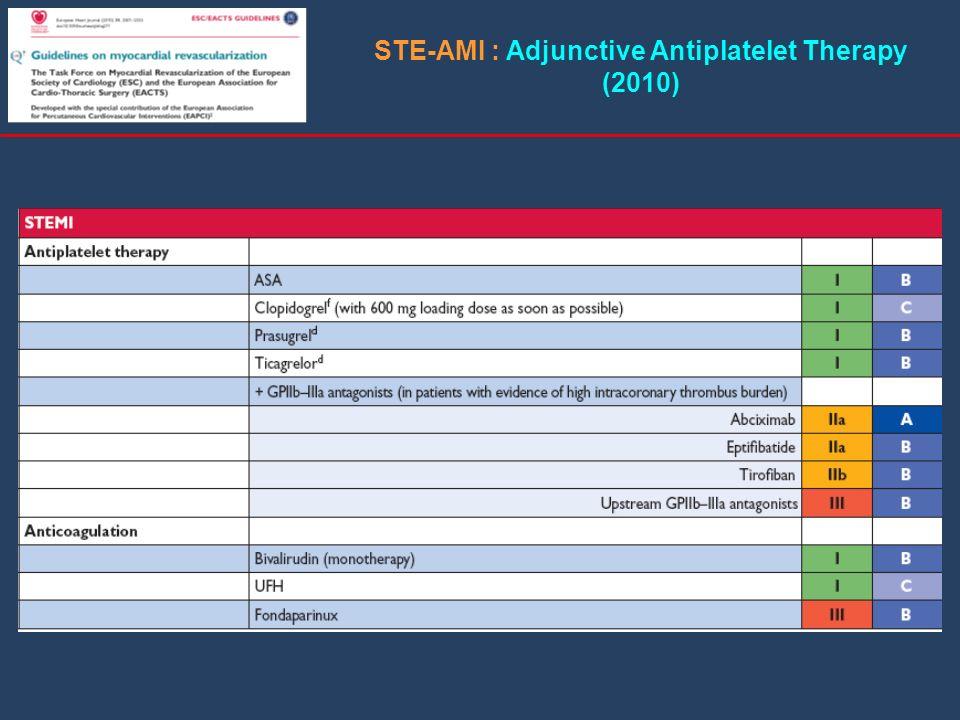 STE-AMI : Adjunctive Antiplatelet Therapy (2010)