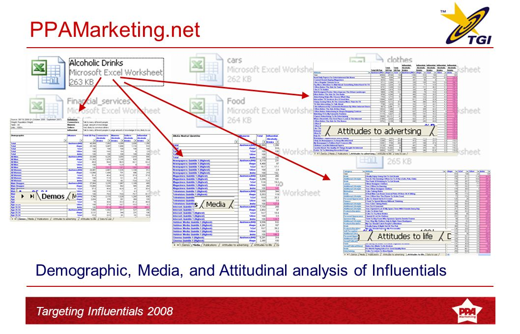 Targeting Influentials 2008 Presentations complete next week. Available online w/c 9 th March