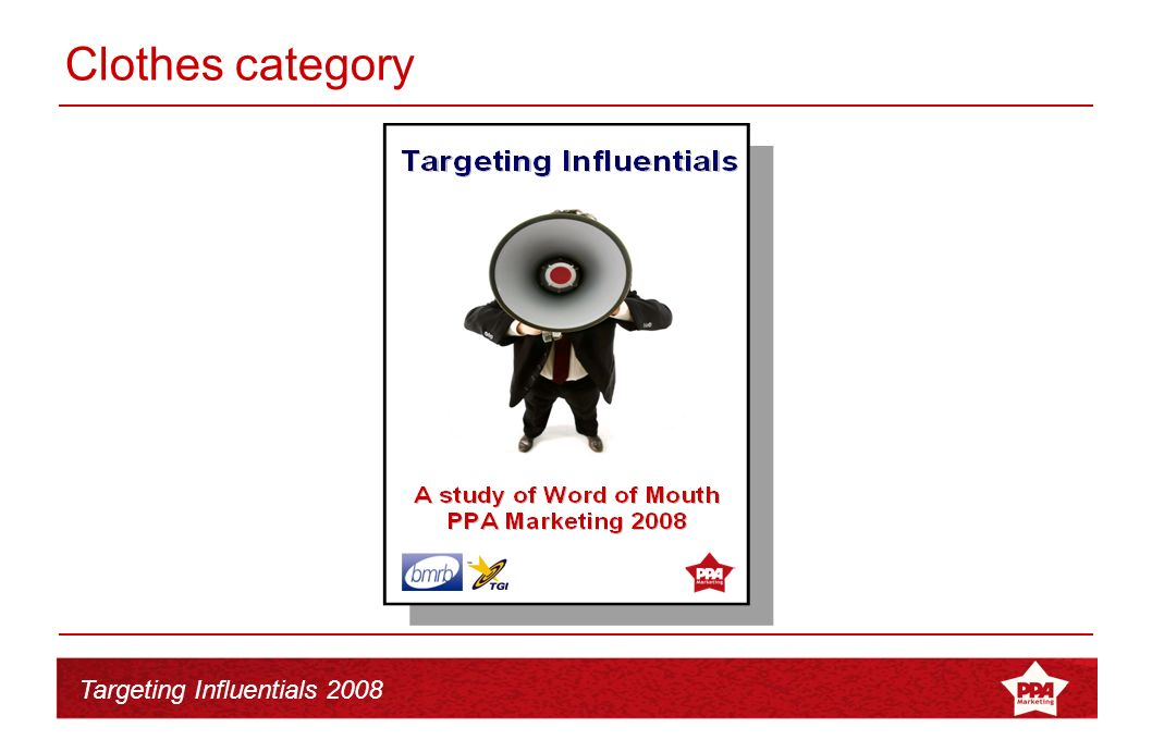 Targeting Influentials 2008 The research 1.The power of WOM by category 2.