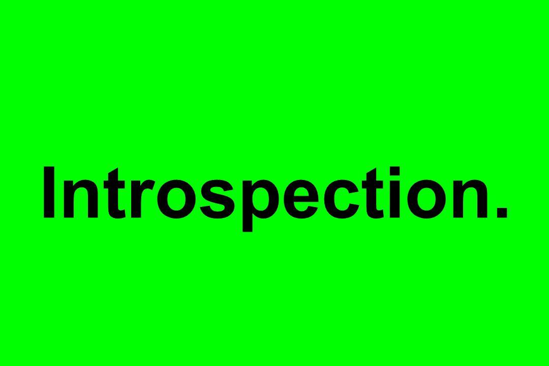 Introspection.