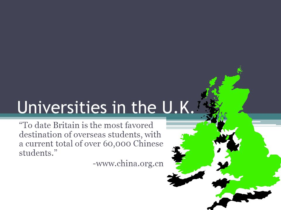 Universities in the U.K.