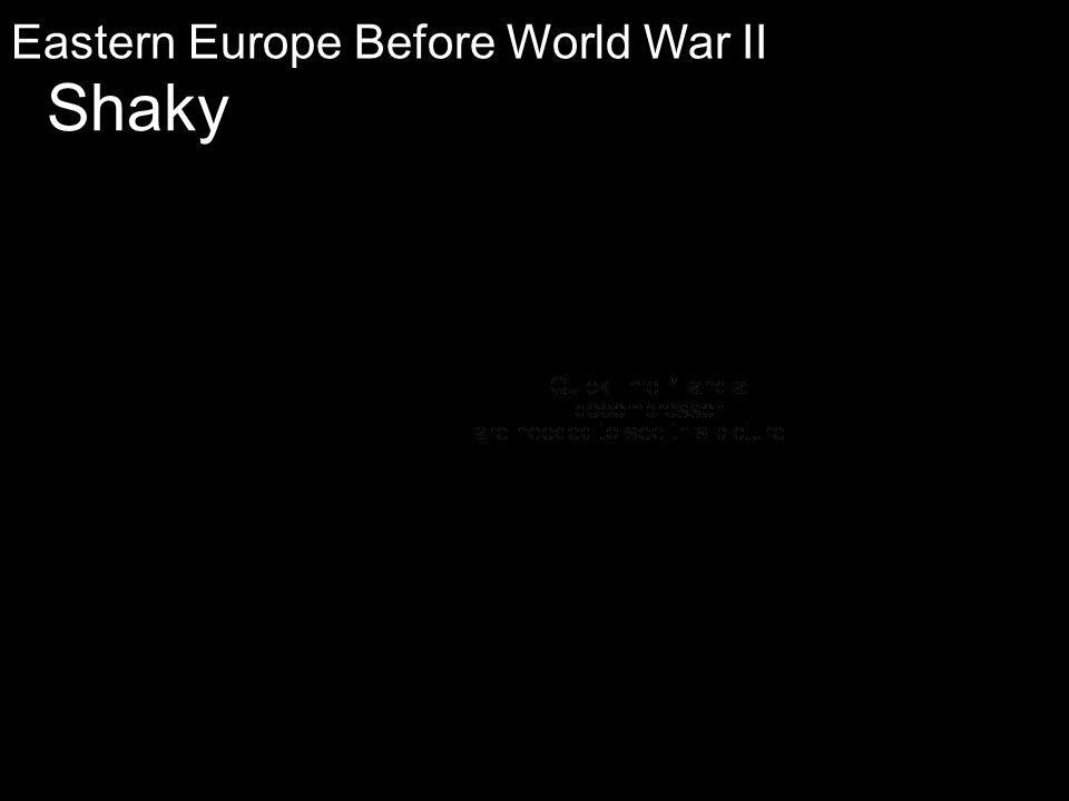 Eastern Europe Before World War II Shaky