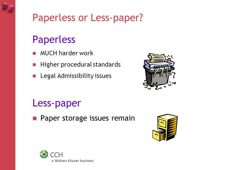 Paperless or Less-paper.