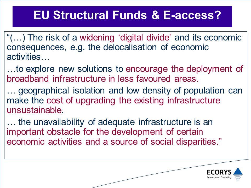 EU Structural Funds & E-access.