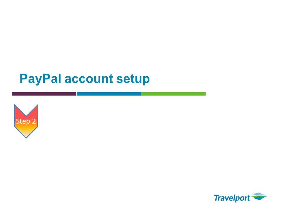 PayPal account setup Step 2