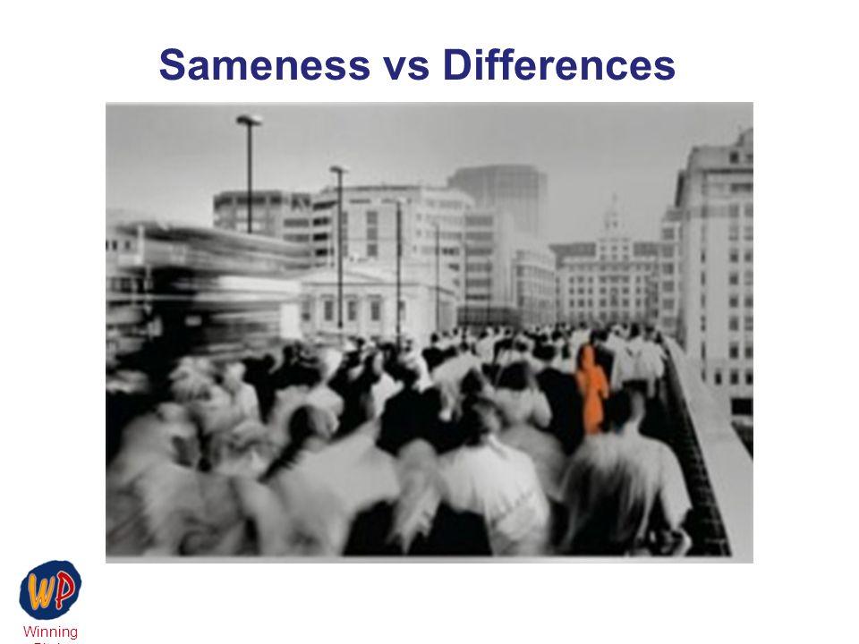 Winning Pitch Sameness vs Differences