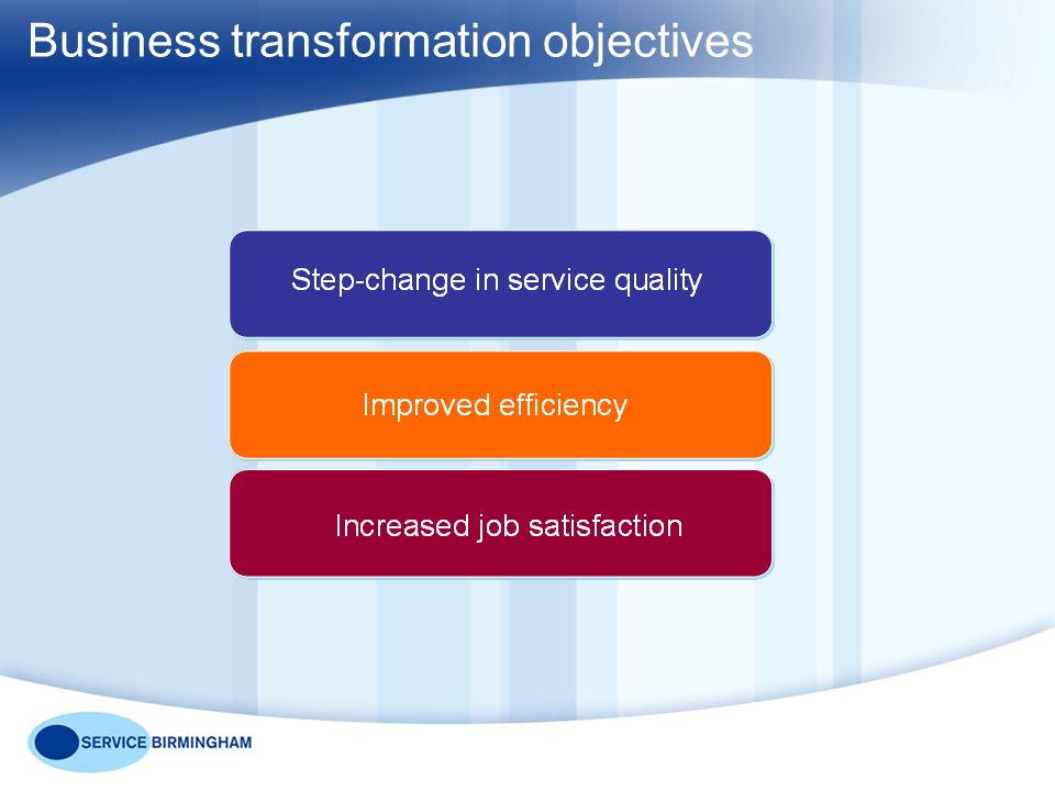 Business transformation objectives