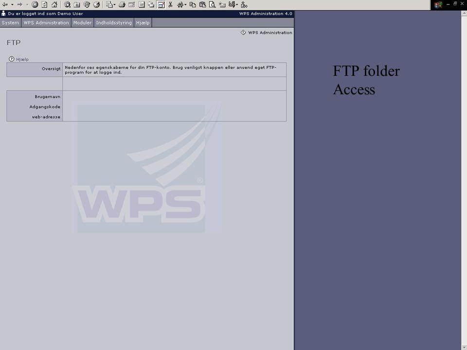 FTP folder Access