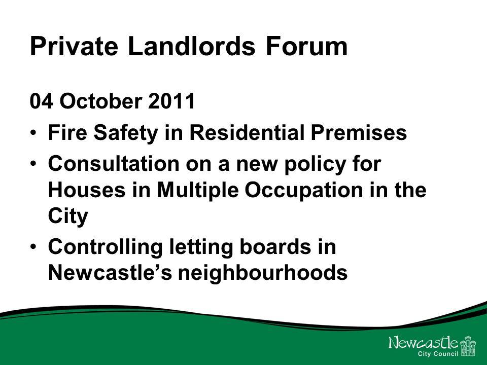 Fire Safety in Residential Premises Andrew Huddleston Senior Environmental Health Officer