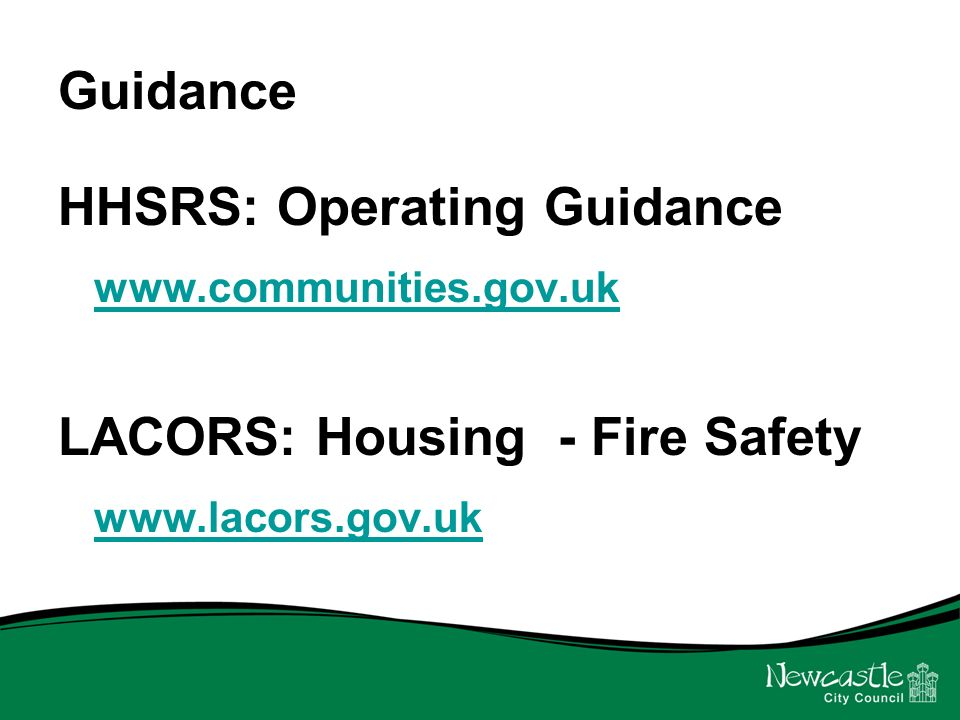Consultation We want to work with letting agents, stakeholders and residents to develop guidance.