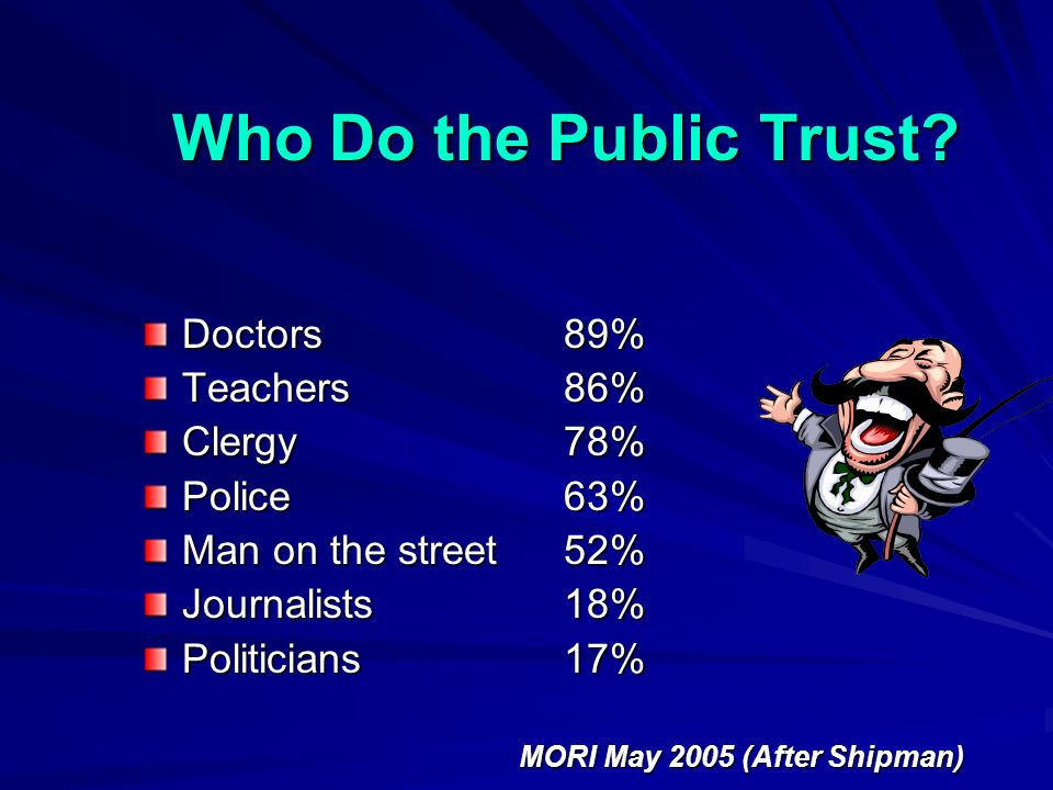 Who Do the Public Trust.
