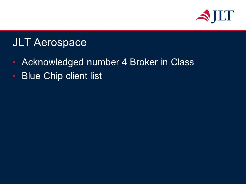 Acknowledged number 4 Broker in Class Blue Chip client list