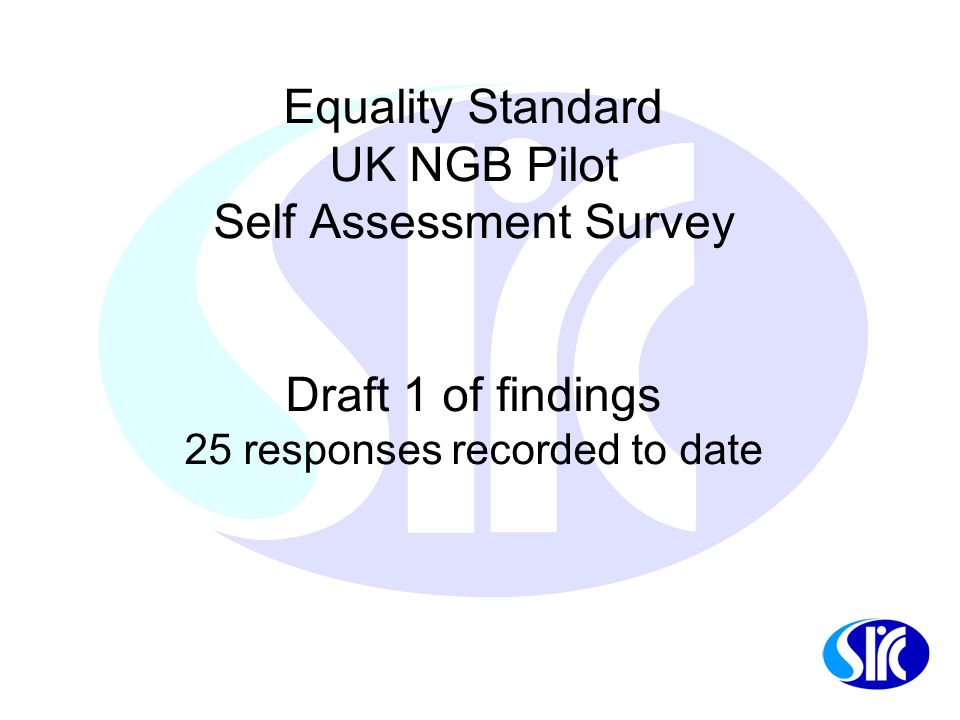 Introduction NGB Equality Standard Pilot programme....