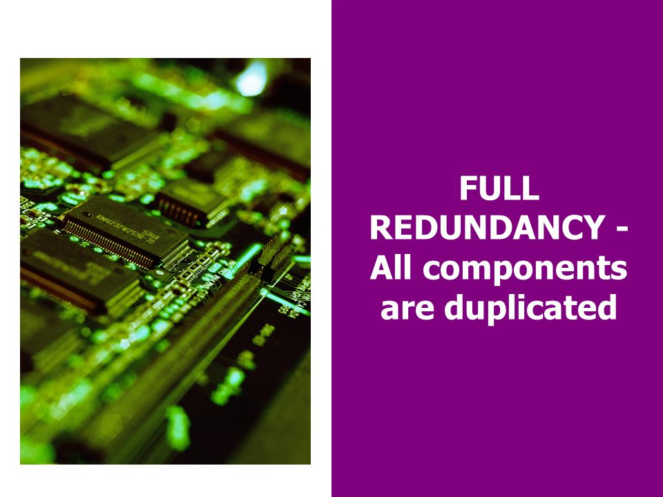 19 FULL REDUNDANCY - All components are duplicated
