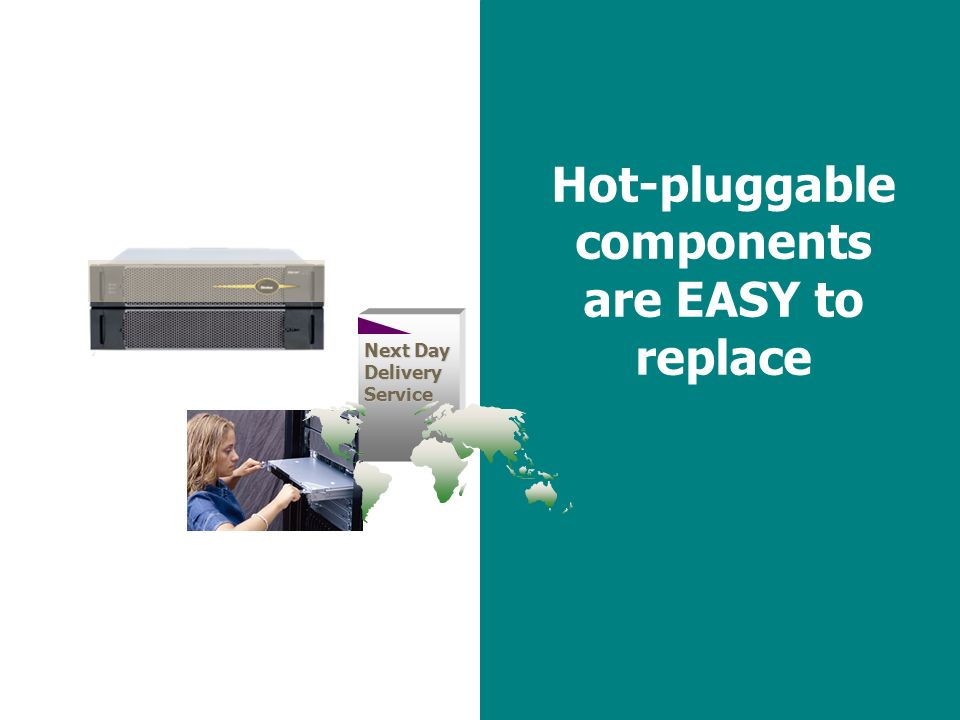 43 Hot-pluggable components are EASY to replace Next Day Delivery Service