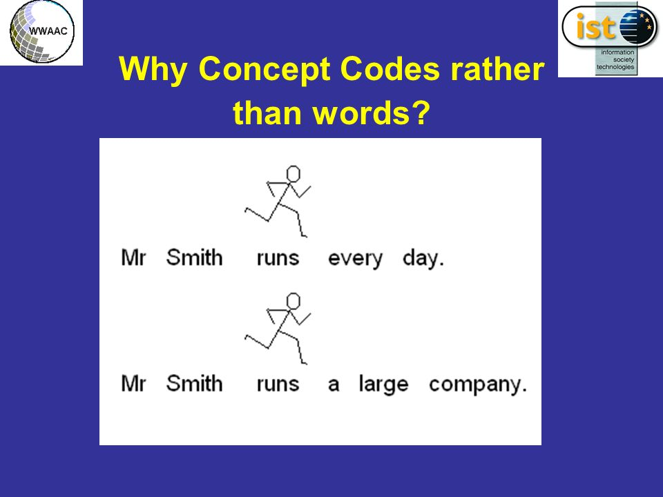 Why Concept Codes rather than words