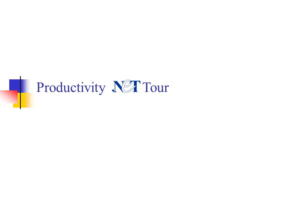 Productivity Tour