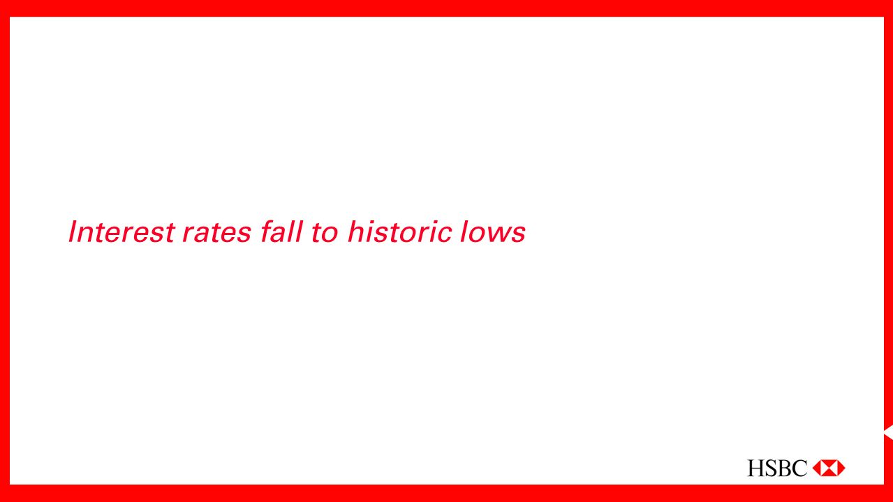 Interest rates fall to historic lows