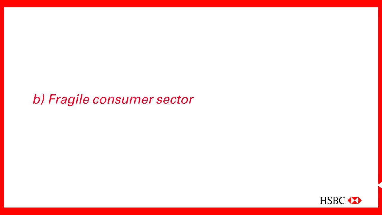 b) Fragile consumer sector