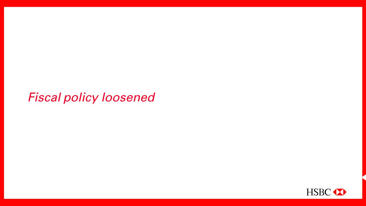 Fiscal policy loosened
