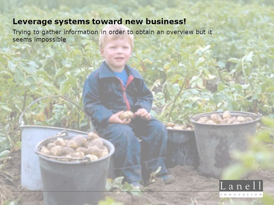 Leverage systems toward new business.