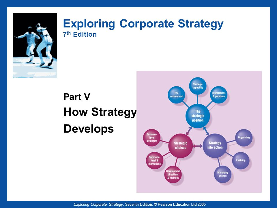 Exploring Corporate Strategy, Seventh Edition, © Pearson Education Ltd 2005 Exploring Corporate Strategy 7 th Edition Part V How Strategy Develops