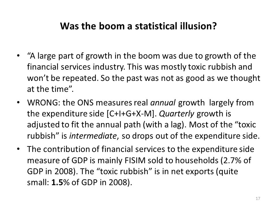 Was the boom a statistical illusion.
